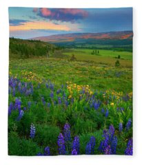 Spring Storm Passing Fleece Blanket