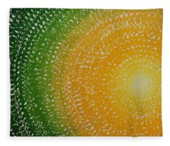 Spring Sun Original Painting Fleece Blanket