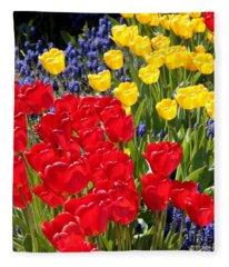 Spring Sunshine Fleece Blanket