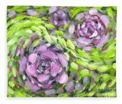 Spring Whirl Fleece Blanket