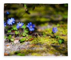 Spring Wild Flowers Fleece Blanket
