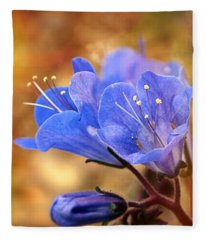 Spring Wildflowers - The Desert Bluebells Fleece Blanket