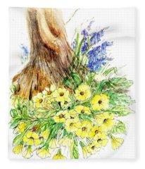 Spring Woodland  Fleece Blanket