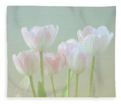 Spring's Pastels Fleece Blanket