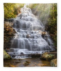 Springtime At Benton Falls Fleece Blanket