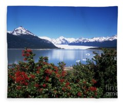 Springtime At Perito Moreno Fleece Blanket