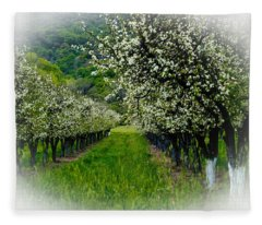 Springtime In The Orchard Fleece Blanket