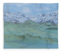 Springtime In The Rockies Fleece Blanket