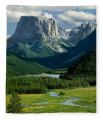 Squaretop Mountain 3 Fleece Blanket