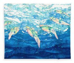 Squid Ballet Fleece Blanket