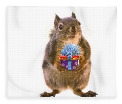 Squirrel With Gift Fleece Blanket