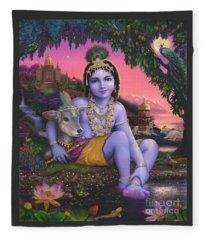 Sri Krishnachandra Fleece Blanket