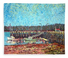 St Andrews Wharf Fleece Blanket