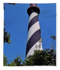 St Augustine Lighthouse Fleece Blanket