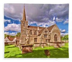 St Cyriac Church Lacock Fleece Blanket