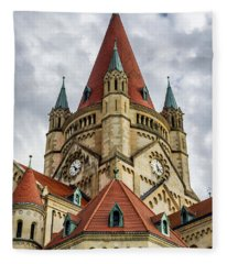 St. Francis Of Assisi Church In Vienna Fleece Blanket