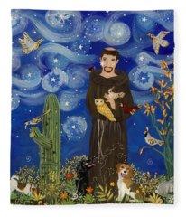 St. Francis Starry Night Fleece Blanket