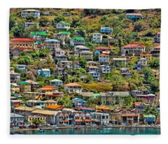 St. Georges Harbor Grenada Fleece Blanket