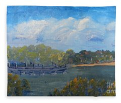 St Georges River Near Como Marina  Fleece Blanket