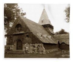 St. Johns Chapel Del Monte Monterey California 1895 Fleece Blanket