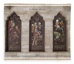 St Josephs Arcade - The Mission Inn Fleece Blanket