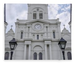 St. Louis Cathedral Close-up Fleece Blanket