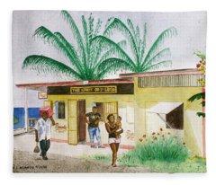 St. Lucia Store Fleece Blanket