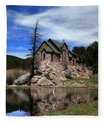 St. Malo Chapel Fleece Blanket