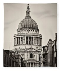St Pauls London Fleece Blanket