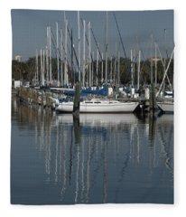 St. Petersburg Boats 1 Fleece Blanket