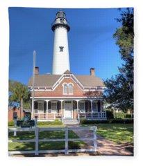 St. Simons Island Light Station Fleece Blanket
