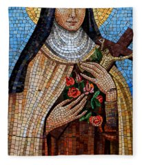 St. Theresa Mosaic Fleece Blanket