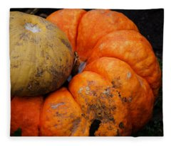 Stacked Pumpkins Fleece Blanket