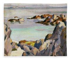 Staffa And Rhum From Iona Fleece Blanket