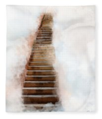 Stair Way To Heaven Fleece Blanket