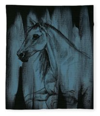 Stallion Fleece Blanket
