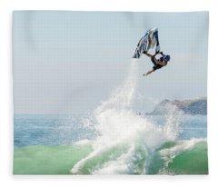 Stand Up Jet Ski Barrel Roll Nac Nac Fleece Blanket