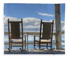 Star Island Rocking Chairs Fleece Blanket