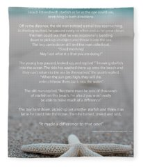 Starfish Make A Difference  Fleece Blanket