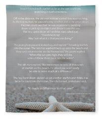 Starfish Make A Difference  Fleece Blanket