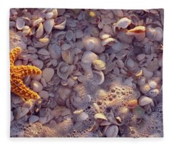 Starfish On The Beach, Lovers Key State Fleece Blanket