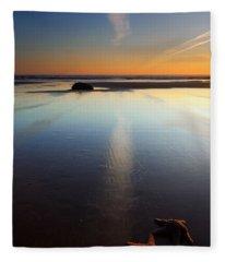 Starfish Sunset Fleece Blanket