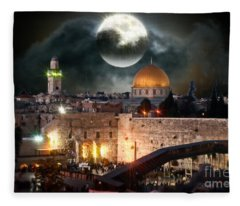 Full Moon Israel Fleece Blanket