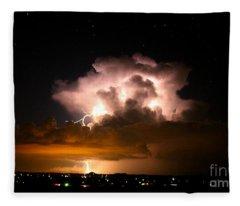Starry Thundercloud Fleece Blanket