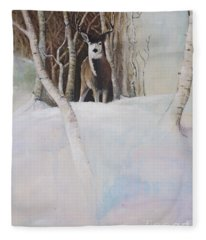 Startled Morning Fleece Blanket