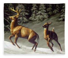 Startled - Variation Fleece Blanket