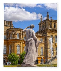 Statue At The Grounds Of Blenheim Palace Fleece Blanket