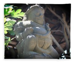 Statue In The Sun Fleece Blanket