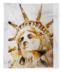 Statue Of Liberty Closeup Fleece Blanket