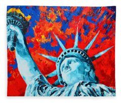 Statue Of Liberty - Lady Liberty Fleece Blanket